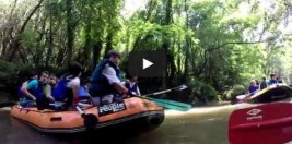 CAMPUS Arriba y abajo por el Río Butrón haciendo rafting (VÍDEO)