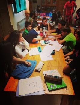 CORNEJO 1-11 julio: Day 8: En clase de inglés