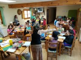 CORNEJO 11-21 julio: Day 2: Nos ponemos las pilas en la clase de inglés